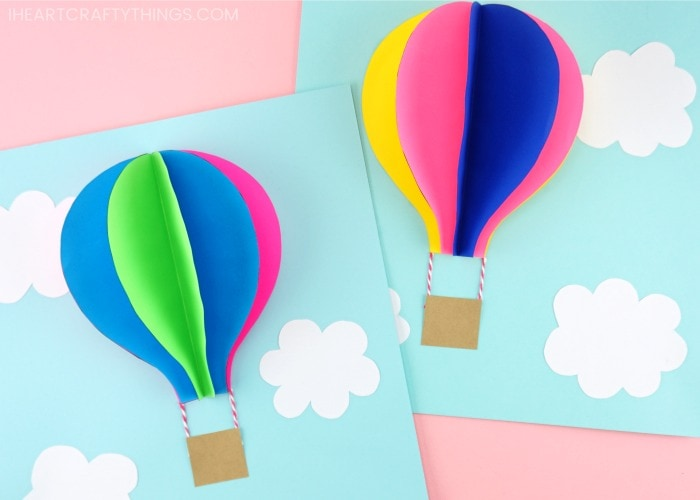 Hot Air Balloons by I Heart Crafty Things
