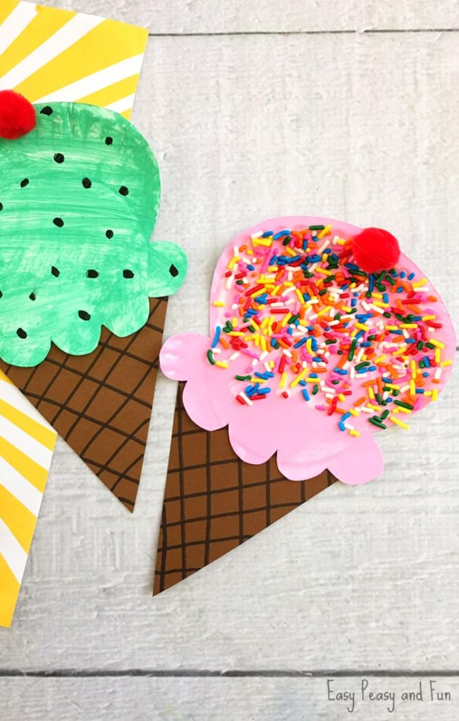Paper Plate Ice Cream by Easy Peasy and Fun