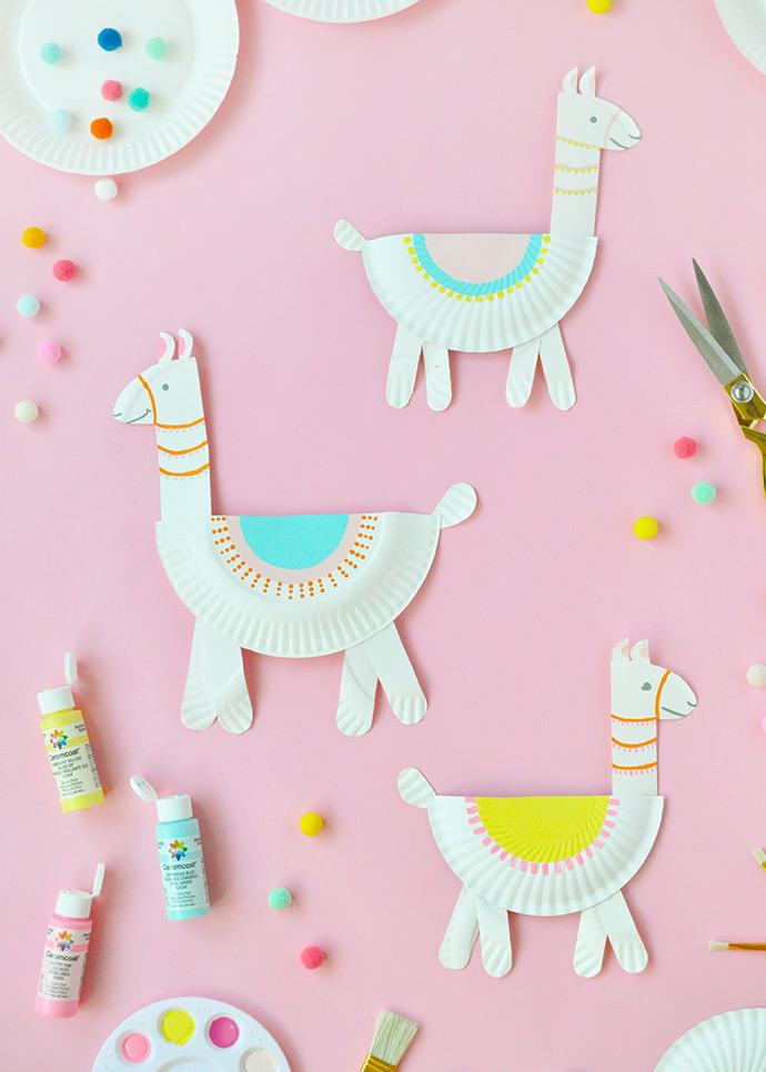 Paper Plate Lamas by Handmande Charlotte