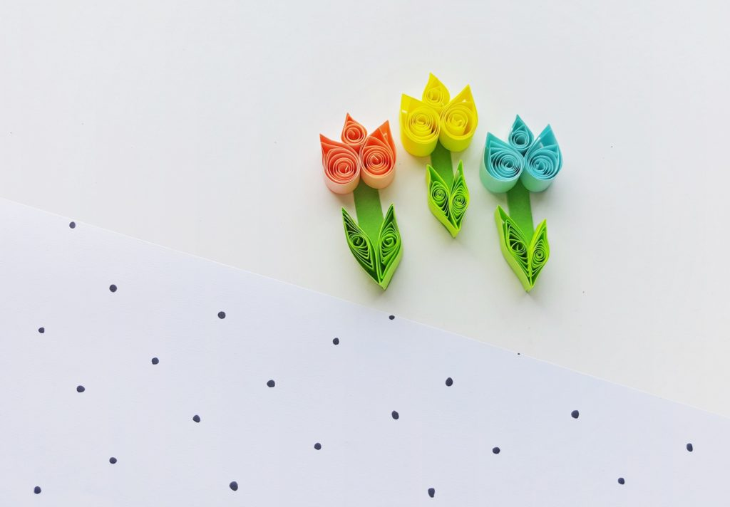 Quiled Tulips by Fun for Little Ones