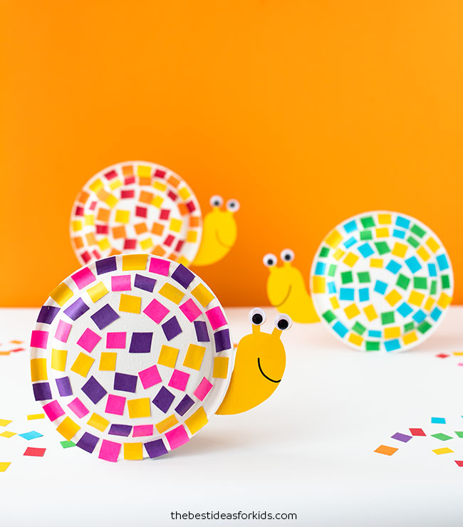 Paper Plate Snail by the Best Ideas for Kids