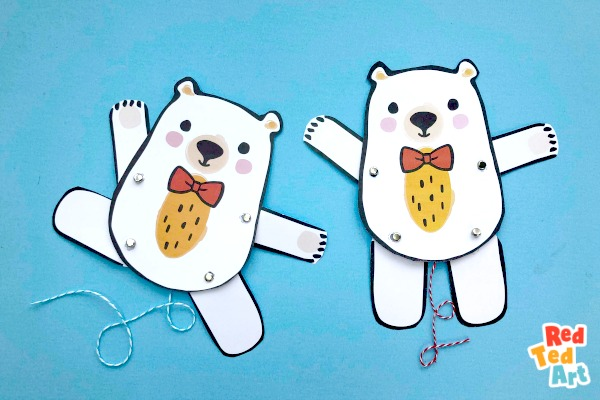 Paper Teddy Bears by Red Ted Art