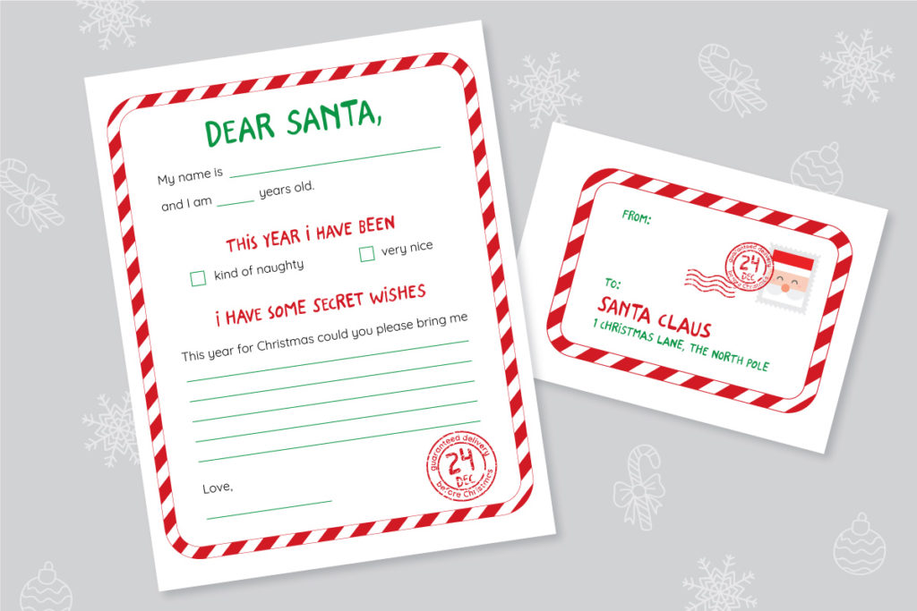 Letter to Santa Free Printable Template