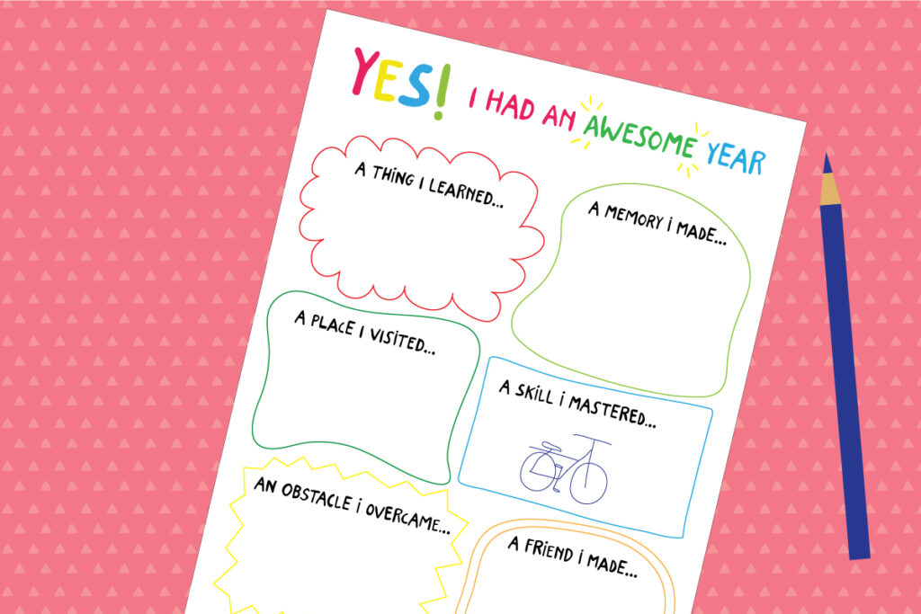 My awesome year activity template