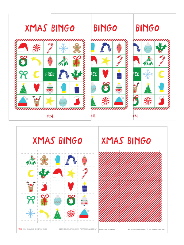 Chirstmas Bingo Printable Set