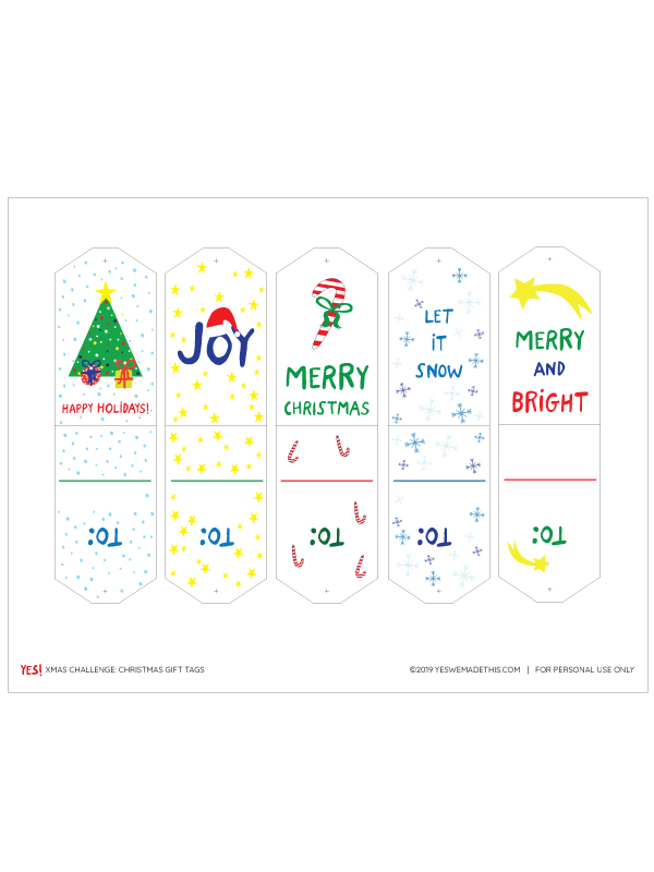 Christmas Gift Tags Template
