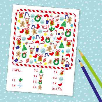 Christmas printable game for kids