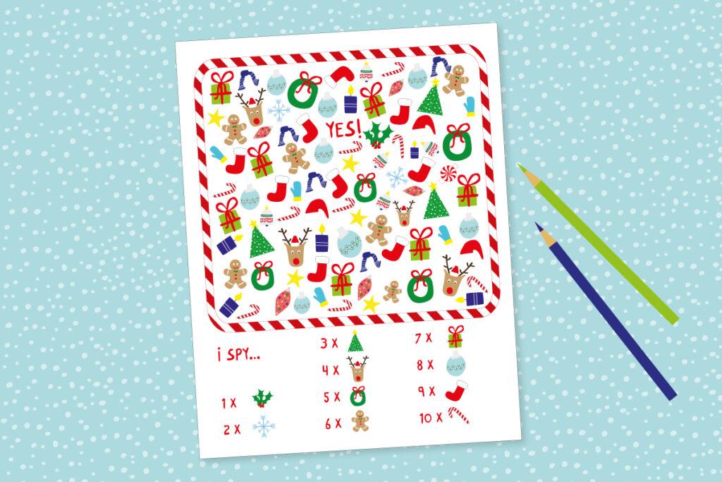 Kids printable holiday game