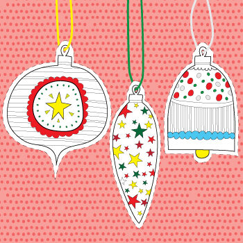 Hanging Paper Christmas Ornaments