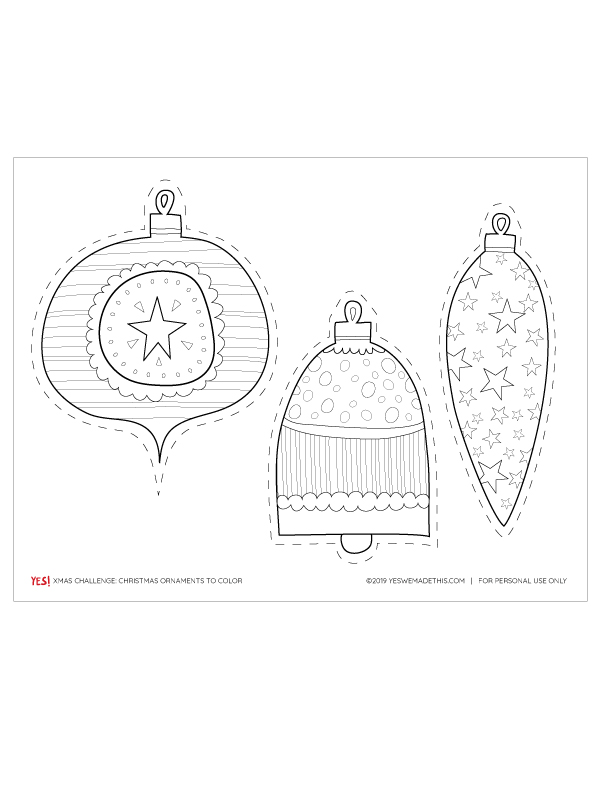 Christmas Ornaments Paper Template