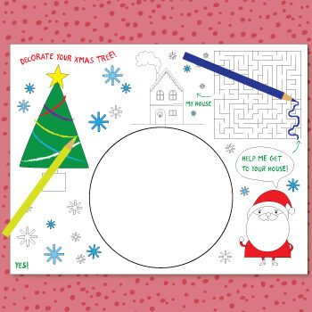 Christmas placemat template