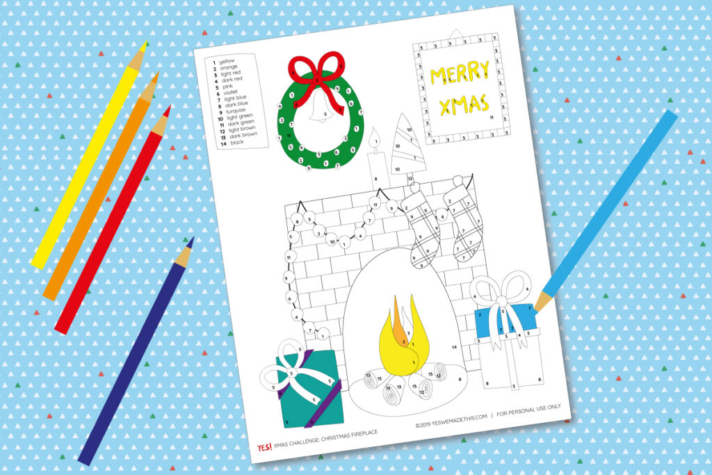 Christmas printable coloring page for kids