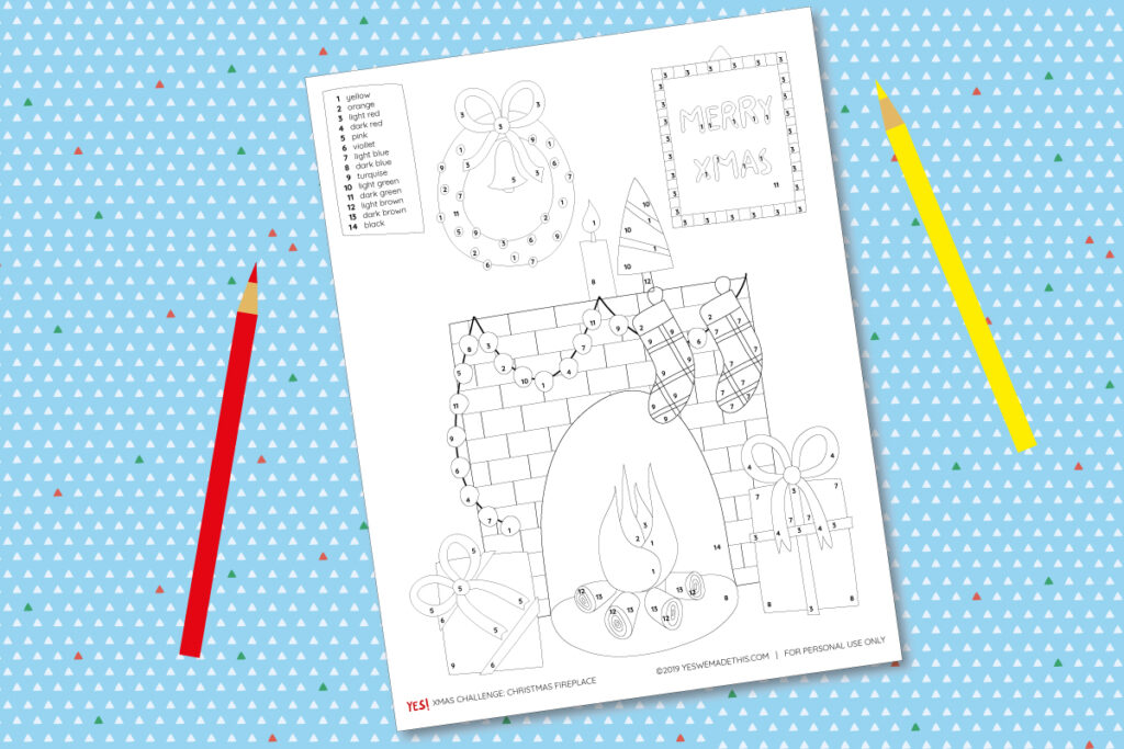 Christmas printable template to color