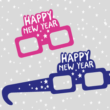DIY New year glasses printable
