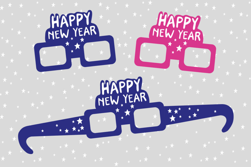 Happy New Year printable props