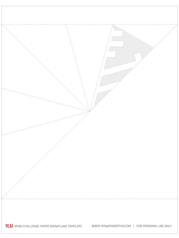 Paper snowflake printable template