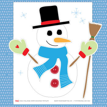 Make your snowman kids printable craft