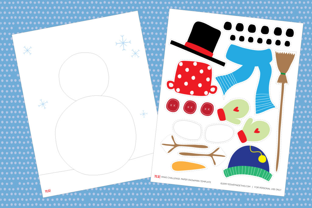 Winter printable craft for kids