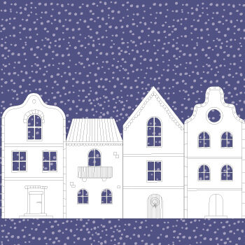 Winter village printable craft