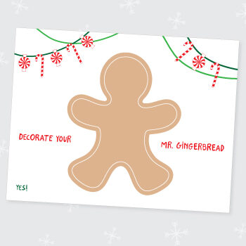 Playdoh gingerbread man printable
