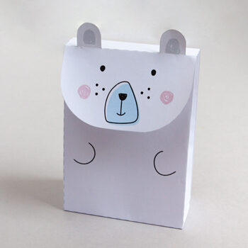 Printable polar bear gift bag