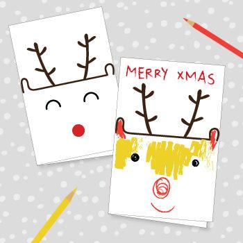 Reindeer Chrstmas Cards
