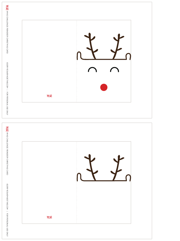 Reindeer Card Template
