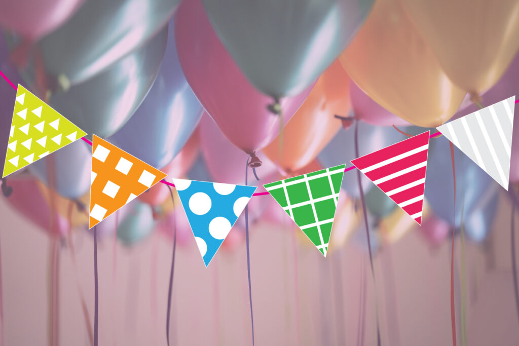 Colorful triangle party garland