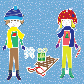 Paper Doll Winter Clothes