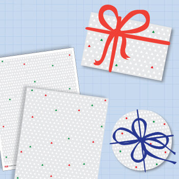 Xmas wrapping paper to print
