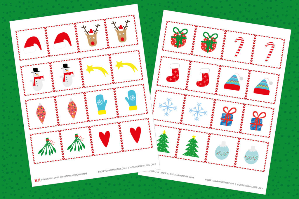 Printable Christmas Memory Game